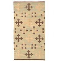 Herat Oriental Afghan Hand-woven Mimana Wool Kilim (5'1 x 9'8) - 5'1 x 9'8