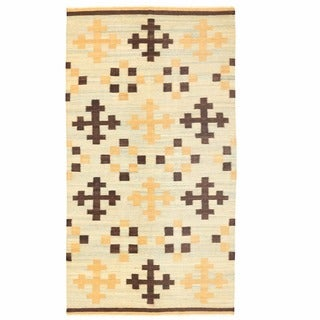 Herat Oriental Afghan Hand-woven Mimana Wool Kilim (5'5 x 9'10)