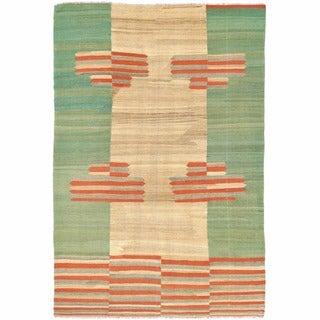 Herat Oriental Afghan Hand-woven Mimana Wool Kilim (6'6 x 9'9)