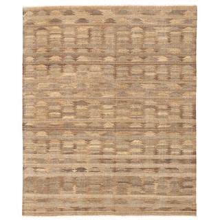 Herat Oriental Afghan Hand-woven Mimana Wool Kilim (7'10 x 9'6)