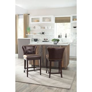 Signature Design by Ashley Canidelli Brown Upholstered Barstool (Set of 2)