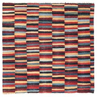 Herat Oriental Afghan Hand-woven Mimana Wool Kilim (3'2 x 3'3)