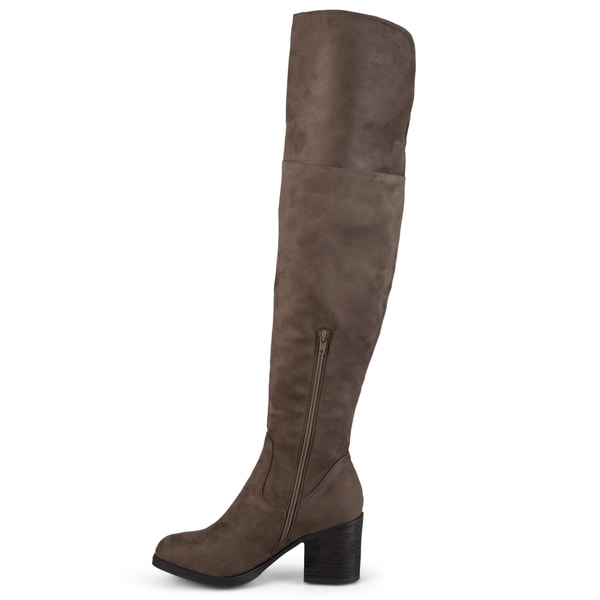 Wide Calf Tall Round Toe Boots