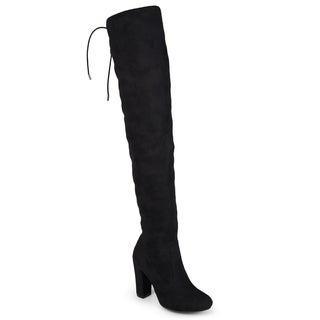 Journee Collection Women's 'Maya' Faux Suede Regular and Wide Calf Over-the-knee Boots