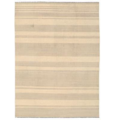 Handmade One-of-a-Kind Mimana Wool Kilim (Afghanistan) - 10' x 13'9