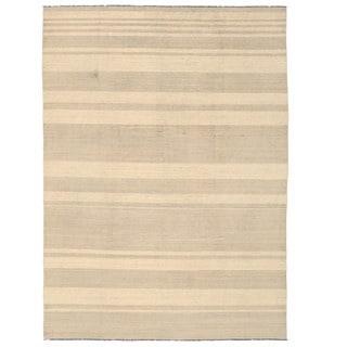 Herat Oriental Afghan Hand-woven Mimana Wool Kilim (10' x 13'9)