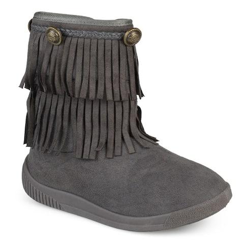 Journee Kids 'Anza' Round Toe Fringed Boots