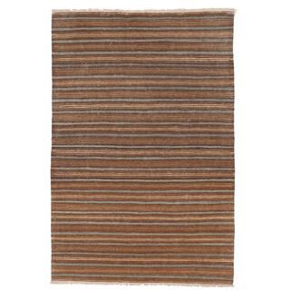 Herat Oriental Afghan Hand-woven Mimana Wool Kilim (3'2 x 4'10)