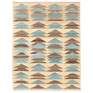 Herat Oriental Afghan Hand-woven Mimana Wool Kilim (3' x 3'11)