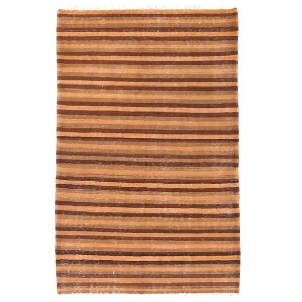 Herat Oriental Afghan Hand-woven Mimana Wool Kilim (3'2 x 5')
