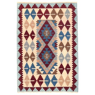Herat Oriental Afghan Hand-woven Mimana Wool Kilim (2'11 x 4'5)