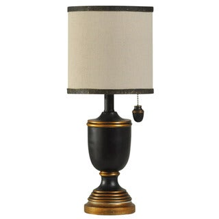 Journee Home 'Steampunk' 19-inch Brass Drum Shade Table Lamp