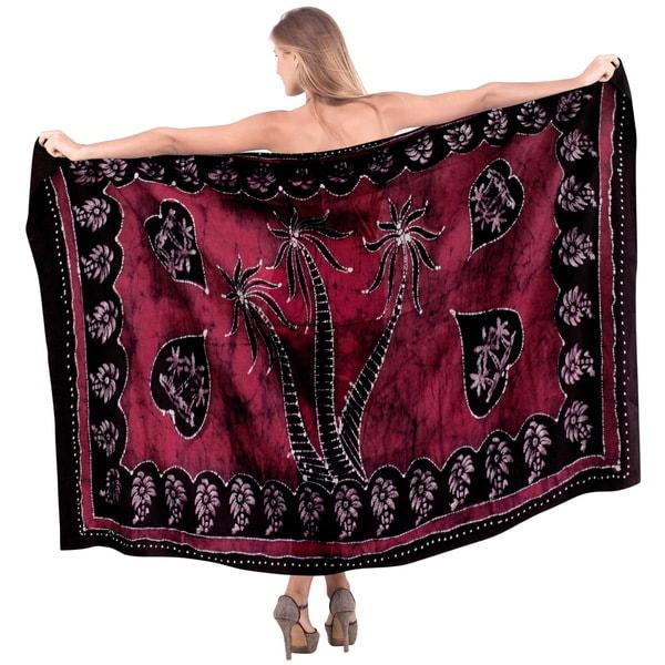79d1027a59 ... Women s Clothing     Swimwear     Cover-Ups   Sarongs. La Leela  Women  x27 s Pink Rayon 78-inch x 42-inch