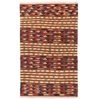 Handmade Herat Oriental Afghan Mimana Wool Kilim - 3' x 5' (Afghanistan)