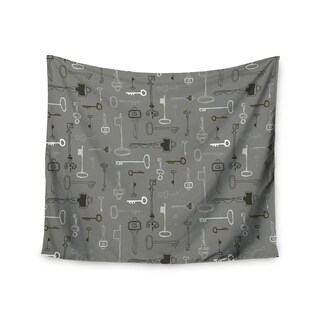 Kess InHouse Laurie Baars 'Keys Gray' 51x60-inch Wall Tapestry