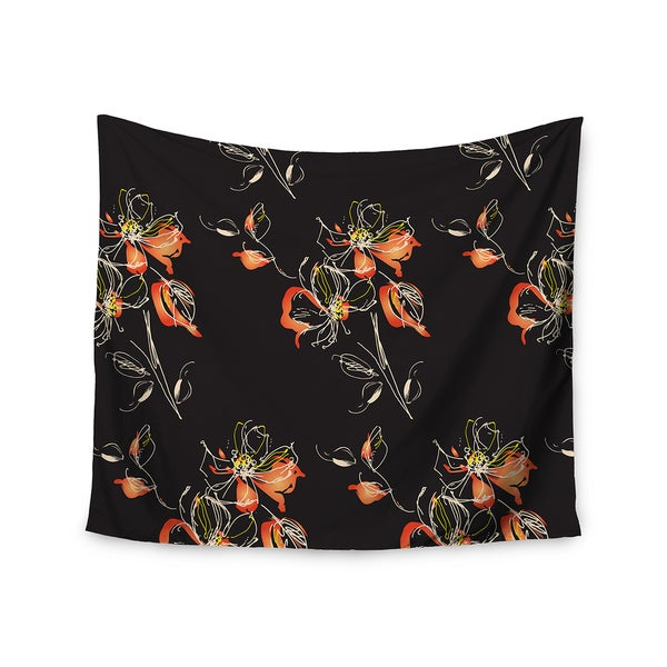 Kess InHouse Louise 'Blackflower' 51x60-inch Wall Tapestry