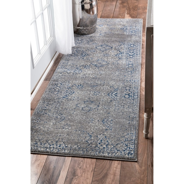 Shop Nuloom Traditional Distressed Grey Runner Rug 2 8 X 8 2 8