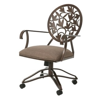 Brownsville Powder-coated Steel and Linen Caster Chair