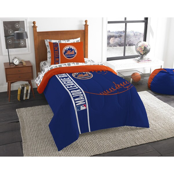 The Northwest Company MLB New York Mets Twin 5-piece Bed in a Bag with Sheet Set