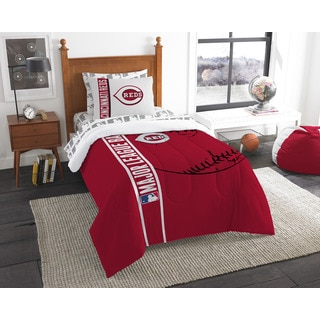 MLB Cincinnati Reds Twin 5-piece Bed in a Bag with Sheet Set