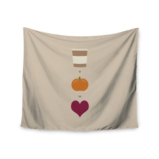 Kess InHouse KESS Original 'Pumpkin Spice Latte' Tan Orange 51x60-inch Wall Tapestry