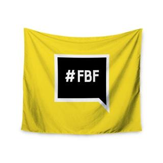 Kess InHouse KESS Original 'Flash Back Friday' Black Yellow51x60-inch Wall Tapestry