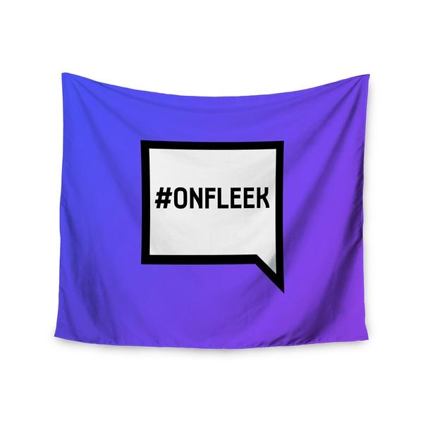 Kess InHouse KESS Original 'On Fleek' White Purple51x60-inch Wall Tapestry