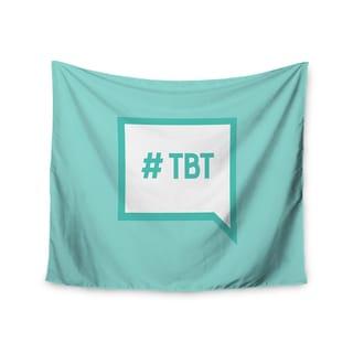 Kess InHouse KESS Original 'Throw Back Thursday' Teal White51x60-inch Wall Tapestry