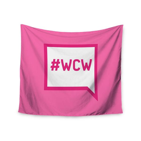 Kess InHouse KESS Original 'Women Crush Wednesday' Pink White51x60-inch Wall Tapestry