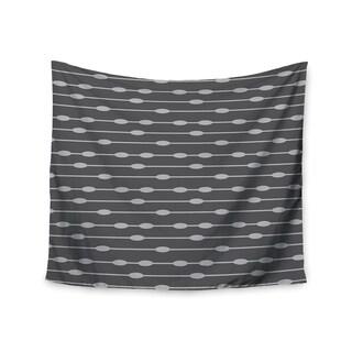 Kess InHouse KESS InHouse 'Chalk Eggs Black' 51x60-inch Wall Tapestry
