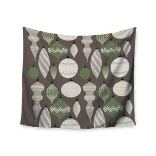 Kess InHouse KESS Original 'Mixed Ornaments Brown' Green 51x60-inch Wall Tapestry