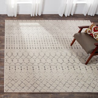 The Curated Nomad Ashbury Trellis Grey Rug - 8'
