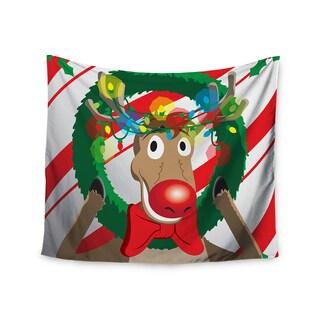 Kess InHouse KESS Original 'Reindeer' Seasonal 51x60-inch Wall Tapestry
