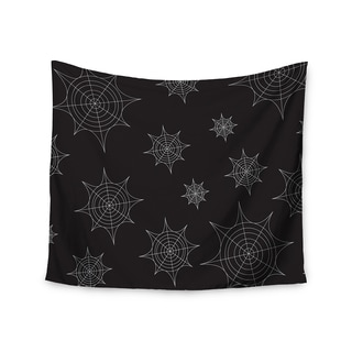 Kess InHouse KESS Original 'Mini Webs Black' 51x60-inch Wall Tapestry