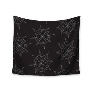 Kess InHouse KESS Original 'Spiderwebs - Black' 51x60-inch Wall Tapestry