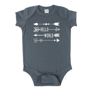 Rocket Bug Hello World Baby Bodysuit