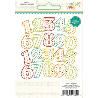 Let's Party Pocket Pieces Die-Cuts 20/Pkg Numbers; 2ea of 0 - 9