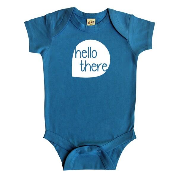 """Rocket Bug """"Hello There"""" Baby Bodysuit"""