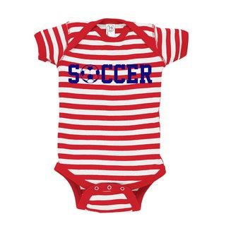 Rocket Bug Patriotic Soccer Baby Bodysuit