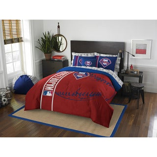 The Northwest Company MLB Philadelphia Phillies Full 7-piece Bed in a Bag with Sheet Set