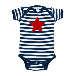 Rocket Bug Patriotic Star Baby Bodysuit