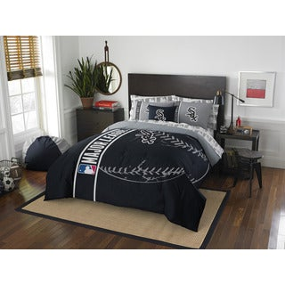 MLB 846 White Sox Full 7-piece Bed in a Bag with Sheet Set