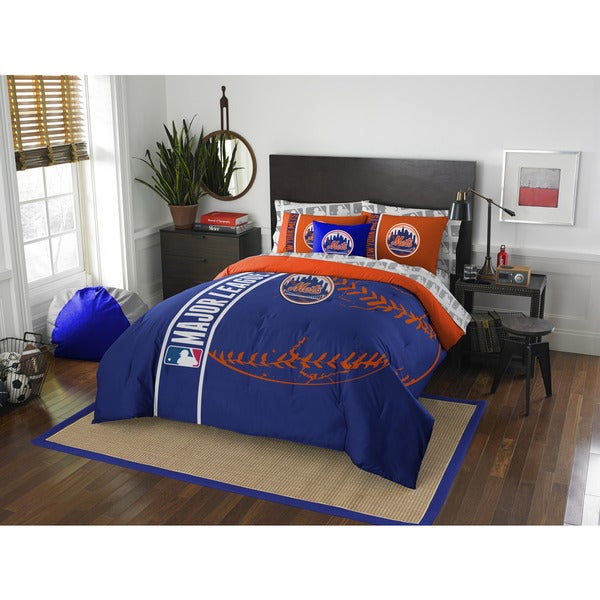 The Northwest Company MLB New York Mets Full 7-piece Bed in a Bag with Sheet Set