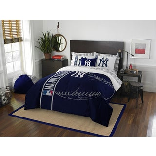 The Northwest Company MLB New York Yankees Full 7-piece Bed in a Bag with Sheet Set