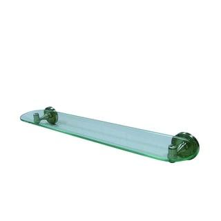 Satin Nickel Bathroom Glass Shelf