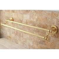 Polished Brass 24-inch Double Towel Bar