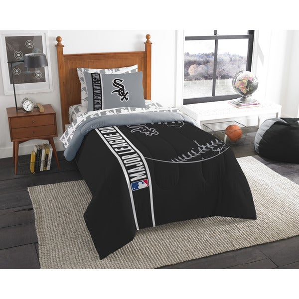 The Northwest Company MLB Chicago White Sox Twin 5-piece Bed in a Bag with Sheet Set