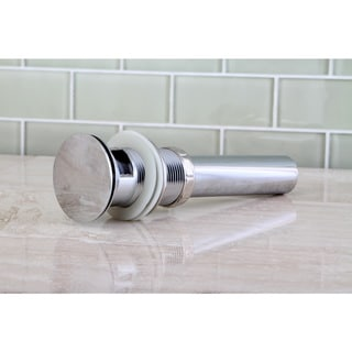 Vessel Sink Push Pop-up Drain with Overflow
