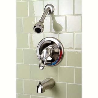 Traditional 1-Handle Satin Nickel Tub and Shower Faucet