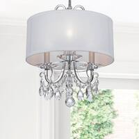 Crystorama Othello Collection 3-light Polished Chrome Mini Chandelier